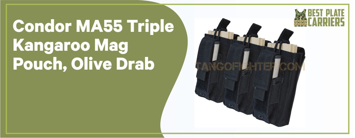 Condor MA55 Triple Kangaroo Pouch ( Mag Pouch for Plate Carrier)